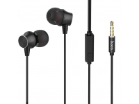 Handsfree Casti In-Ear HOCO M51, Cu microfon, 3.5 mm, Negru, Blister
