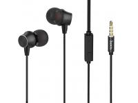 Handsfree Casti In-Ear HOCO M51, Cu microfon, 3.5 mm, Negru, Blister