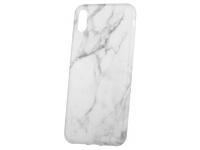 Husa TPU OEM Marble pentru Samsung Galaxy S8+ G955, Alba, Bulk