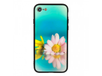 Husa TPU Vennus Sunrise Flower cu spate din sticla pentru Huawei Mate 10 Lite, Multicolor, Bulk