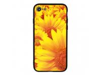 Husa TPU Vennus Sun Flower cu spate din sticla pentru Samsung Galaxy A7 (2018) A750, Multicolor, Bulk