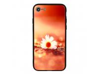 Husa TPU Vennus Sunset Flower cu spate din sticla pentru Samsung Galaxy A7 (2018) A750, Multicolor, Bulk