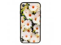 Husa TPU Vennus White Flower cu spate din sticla pentru Samsung Galaxy S9 G960, Multicolor, Bulk