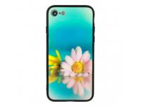 Husa TPU Vennus Sunrise Flower cu spate din sticla pentru Samsung Galaxy S9 G960, Multicolor, Bulk