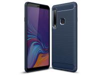 Husa TPU OEM Carbon pentru Samsung Galaxy A9 (2018), Bleumarin, Blister
