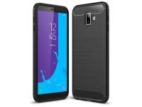 Husa TPU OEM Carbon pentru Samsung J6 Plus (2018) J610, Neagra, Blister