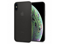 Husa Plastic Spigen Air Skin pentru Apple iPhone X / Apple iPhone XS, Neagra, Blister 063CS24910