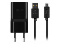 Incarcator Retea cu cablu MicroUSB LG MCS-04ER, 1 X USB, 1.8A, Negru, Bulk