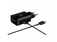 Incarcator Retea cu cablu USB Tip-C Samsung EP-TA300CBEGWW Fast Charging, Negru, Blister