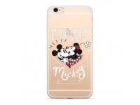 Husa TPU Disney Mickey & Minnie 002 pentru Huawei P20 Lite, Transparenta, Blister