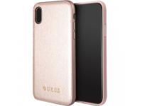 Husa Piele Guess Iridescent pentru Apple iPhone X / Apple iPhone XS, GUHCPXIGLRG, Roz Aurie, Blister