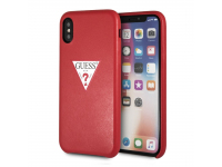Husa TPU Guess Triangle pentru Apple iPhone X / Apple iPhone XS, Rosie, Blister GUHCPXPTPURE