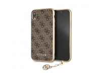 Husa TPU Guess Charms 4G pentru Apple iPhone XR, Maro, Blister GUHCI61GF4GBR