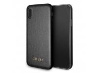 Husa Piele Guess Iridescent pentru Apple iPhone XS Max, Neagra, Blister GUHCI65IGLBK