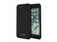 Husa TPU Guess Logo pentru Apple iPhone 7 Plus / Apple iPhone 8 Plus, Neagra, Blister GUHCI8LLSGLBK