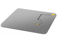 Covor service cu cablu protectie antistatica, 75 x 51.6 cm, Negru