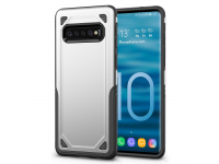 Husa Plastic OEM Rugged Armor pentru Samsung Galaxy S10+ G975, Argintie, Bulk