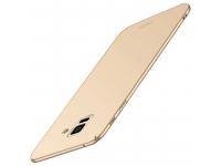 Husa Plastic Mofi Slim pentru Samsung Galaxy A8+ (2018) A730, Aurie, Blister
