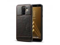 Husa Dibase Crazy Horse pentru Samsung Galaxy A6+ (2018) A605, Neagra, Bulk