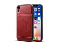 Husa Dibase Crazy Horse pentru Apple iPhone XR, Rosie, Bulk
