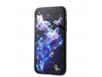 Husa TPU OEM Blue Butterfly pentru Apple iPhone XR / Apple iPhone X / Apple iPhone XS, Multicolor, Bulk