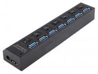 Hub Usb 7 porturi USB 3.0 OEM, Negru, Blister