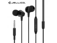 Handsfree Casti In-Ear JELLICO X4A, Cu microfon, 3.5 mm, Negru, Blister