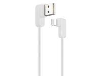 Cablu Date si Incarcare USB la Lightning Usams US-SJ165 U-Flow, 1.2 m, Alb, Blister