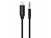 Adaptor Audio Lightning la 3.5 mm Tata Yaomaisi Q18, 1 m, Negru, Blister