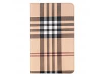 Husa Tableta Piele OEM Lattice Stripes pentru Samsung Galaxy Tab A 10.1 (2016), Maro, Bulk
