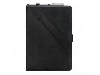 Husa Tableta Piele OEM Double Holder pentru Samsung Galaxy Tab A 10.5 T590 / Samsung Galaxy Tab A 10.5 T595, Neagra, Bulk