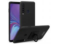 Husa Plastic Imak Matte Touch pentru Samsung Galaxy A9 (2018), Neagra, Bulk