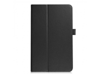 Husa Tableta Piele OEM Litchi pentru Samsung Galaxy Tab A 10.5 T590 / Samsung Galaxy Tab A 10.5 T595, Neagra, Bulk