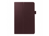Husa Tableta Piele OEM Litchi pentru Samsung Galaxy Tab E 9.6, Maro, Bulk
