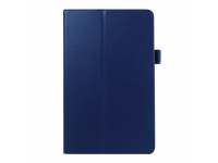 Husa Tableta Piele OEM Litchi pentru Samsung Galaxy Tab E 9.6, Bleumarin, Bulk
