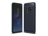Husa TPU OEM Carbon pentru Samsung Galaxy S9 G960, Bleumarin, Bulk