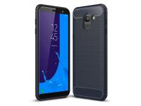 Husa TPU OEM Carbon pentru Samsung Galaxy J6 J600, Bleumarin, Bulk