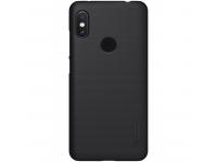 Husa Plastic Nillkin Frosted pentru Xiaomi Redmi Note 6 Pro, Neagra, Blister