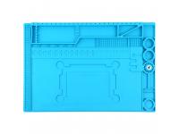 Covor service antistatic cu organizator, 450 x 300 mm, Albastru