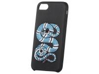 Husa TPU OEM Blue Snake pentru Apple iPhone 7 / Apple iPhone 8, Neagra, Bulk