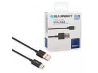 Cablu Date si Incarcare USB la USB Type-C Blaupunkt, 1.2 m, Negru, Blister BP-TCB12-T