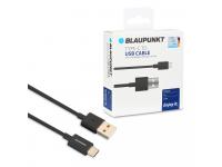Cablu Date si Incarcare USB la USB Type-C Blaupunkt 3A, 2 m, Negru, Blister BP-TCB20-T
