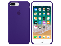 Husa Apple Pure Silicone Apple iPhone 7 Plus / Apple iPhone 8 Plus, Mov, Blister MQH42ZM/A