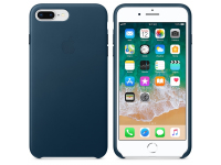 Husa Piele Apple iPhone 7 Plus / Apple iPhone 8 Plus, Bleumarin, Blister MQHR2ZM/A