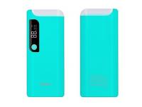 Baterie Externa Powerbank HOCO B27 cu afisaj, 15000 mA, 2 x USB, Turquoise, Blister