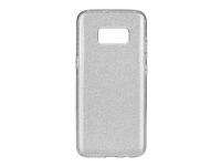 Husa TPU OEM Shining pentru Samsung Galaxy A7 (2018) A750, Argintie, Bulk
