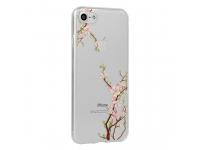 Husa TPU OEM Floral Cherry pentru Xiaomi Pocophone F1, Multicolor - Transparenta, Blister