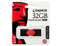 Memorie Externa Kingston Data Traveler 106 U3, USB 3.0 - USB 3.1, 32Gb, Neagra - Rosie, Blister DT106/32GB