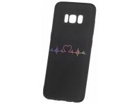 Husa TPU OEM Heart Beat pentru Samsung Galaxy J4 J400, Neagra, Bulk