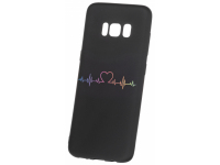 Husa TPU OEM Heart Beat pentru Samsung Galaxy S9 G960, Neagra, Bulk